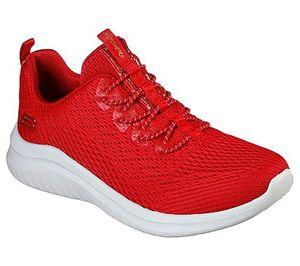 Skechers Slip-On-Sneaker LITE GROOVE Rot Damen