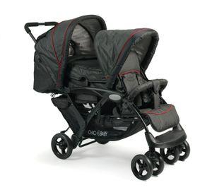 Chic 4 Baby Geschwisterkinderwagen  DUO ; Farbe: Jeans Black ; Max. Belastbarkeit: 18 kg ; Artikel-nr.: 274-20