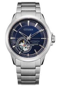 Citizen Herren Automatik Super Titanium Armbanduhr  offene Unruhe - NH9120-88L