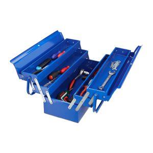 relaxdays Werkzeugkoffer leer blau