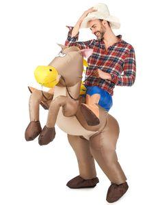 Aufblasbarer Cowboy Huckepack Kostüm