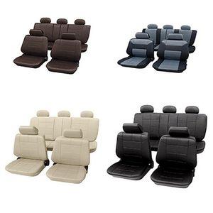 Auto-Sitzbezüge in Leder-Optik Einsetzbar für alle gängigen Autotypen Braun