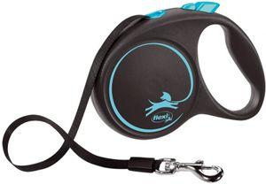 Hundeleine flexi® BLACK DESIGN Gurt, Größe S-L, Größe:L - 5m - bis 50Kg, Farbe:blau