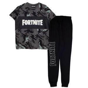 Fortnite - Emotes Schlafanzug für Jungen PG1572 (164) (Schwarz)