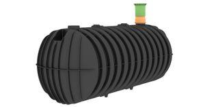 Garantia STABILUS Sammelgrube Regenwasserzisterne 3000 L, 327x124x124 cm (LxBxH), schwarz; 102017