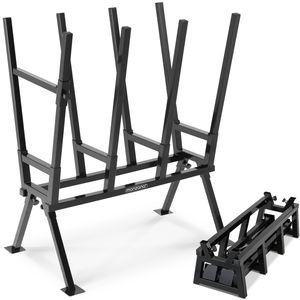 Gardebruk Sägebock 77x50x105cm 400 kg Belastbarkeit mit Feststellbügel Höhenverstellbar Stahl Holzsägebock Holz Sägehilfe