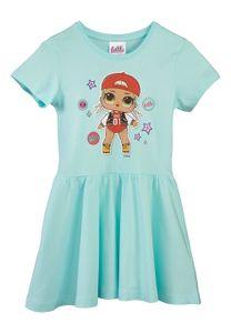L.O.L Surprise Mädchen Kinder Kleid Sommer-Kleid Dress Kleidchen Türkis, Größe:134-140