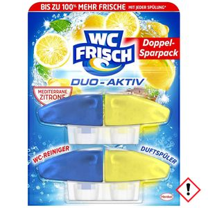 WC Frisch Duo Aktiv Duftspüler Lemon Nachfüllpack 2 Stück 100ml