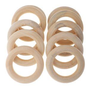 10er Pack Holzring 5.8cm Natur Holzringe Schmuck DIY Schmuckherstellung Armband Halskette Zubehör zum Basteln dekorieren