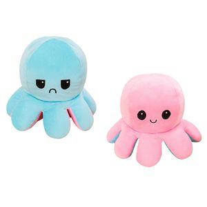 (Stil A - 50cm) Kuscheltiere, Niedliche Oktopus-Plüsch-Spielzeug, Doppelseitig Flip Oktopus-Stofftierpuppe, Kreative Spielzeuggeschenke für Kinder / Mädchen / Jungen / Liebhaber