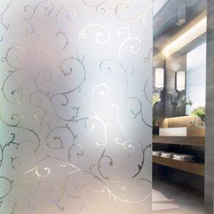 Milchglasfolie Fensterfolie Milchglas Duschkabinen Blickdicht Folie Fenster Selbstklebend Sichtschutzfolie Sichtschutz Statisch Haftend Glasdekor Rebe S007 (67,5x150cm) mit Gratis Rakel