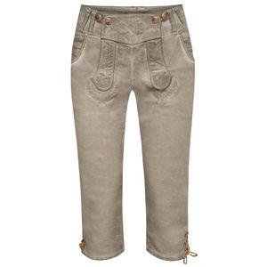 Jeans-Kniebundlederhose Nicole in Grau von Hangowear, Größe:32, Farbe:Grau