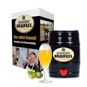 BRAUKÖNIG ® Braufass Express - Black Edition / Bierbrauset zum selber Brauen