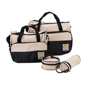 5pcs Baby Wickeltasche  Babytasche Babypflegeset  Babypflege schwarz