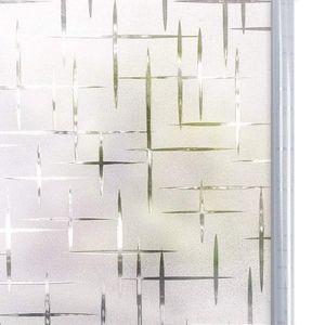Fensterfolie Selbsthaftend 45x200 cm, Selbstklebend Milchglasfolie Bad Folie für Duschkabine Milchglas Blickdicht Sichtschutzfolie Statisch Haftend Glastüren Badfenster