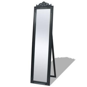 vidaXL Standspiegel im Barock-Stil 160x40 cm Schwarz