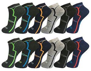 12 Paar Socken Sneaker Sport Gr. 43-46