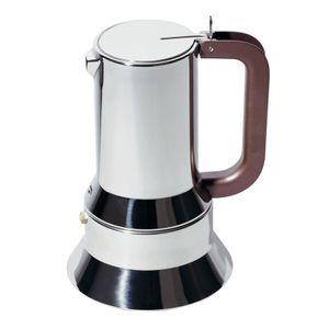 ALESSI Espressomaschine 9090/M  für 10 Tassen silber Edelstahl