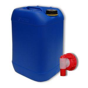 20 Liter Wasserkanister blau + Hahn (DIN 61)