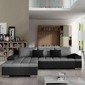 Mirjan24 Ecksofa Bangkok, Stilvoll L-Form Sofa mit Schlaffunktion und Bettkasten, Wohnlandschaft (Ecksofa Links, Soft 011 + Casablanca 2314 + Casablanca 2316)