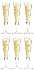 6er Set Ritzenhoff Champus Champagnerglas NOTEN by Sybille Mayer 2013