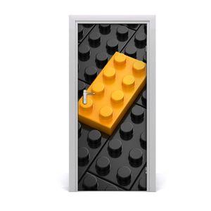Tulup Türaufkleber 85x205 cm Dekorative Aufkleber Selbstklebend Wasserdichte Tapete Abnehmbar Schlafzimmer Wohnzimmer Wohnkultur - Lego Wand