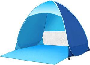 Dadanar Pop Up Zelt, Strand Camping Zelt Faltbar Outdoor UV Leicht Wasserdicht Zelt als Sonnenschutz Kinder Familie und Hund auf Garten Strand