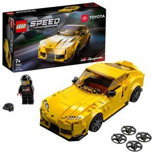 LEGO 76901 Speed Champions Toyota GR Supra Rennwagen, Spielzeugauto, Modellauto zum selber Bauen