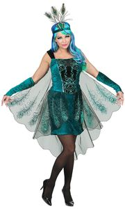 Pfau Damen Kostüm Größe: 42-44