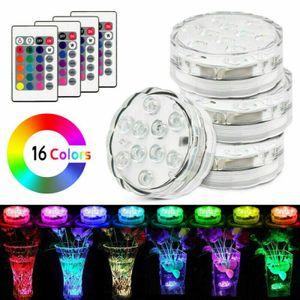 4x LED Unterwasserlicht RGB Multi Farbwechsel mit Fernbedienung Wasserdicht lampe Unterwasseelampe