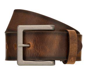 ALBERTO Vintage Gürtel Herrengürtel Ledergürtel Jeansgürtel Braun 8406, Länge:95, Farbe:Braun