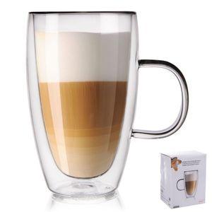 ORION Teeglas Kaffeeglas Doppelwandig Gläser Thermoglas für Kaffee Tee 430 ml
