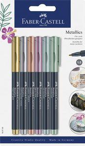 Faber Castell Metallics Marker mit Faserspitze Metalliceffekt