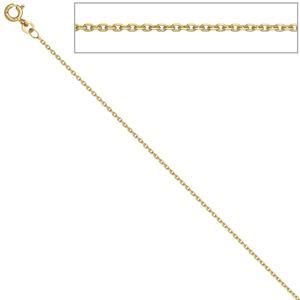 JOBO Ankerkette 333 Gelbgold 1,2 mm 42 cm Gold Kette Halskette Federring