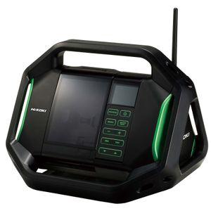 HiKOKI Baustellenradio UR18DSALW4Z 14,4 -18 V inkl. Netzteil, USB Ausgang, AUX Eingang, Aufladefunktion für Handys