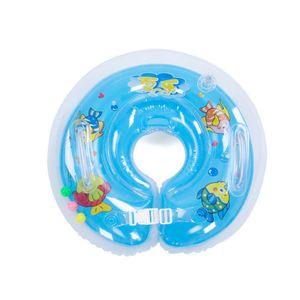 Schwimmring, aufblasbarer Halsring zum Schwimmen für Kleinkinder, verdickter Doppelballonhals-Schwimmring, blau
