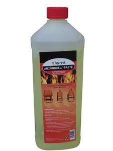 Anzündgel von Fermit auf Basis von Alkohol in Gelform Flasche 1 Liter