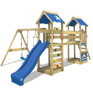 WICKEY SunFlyer Spielturm Kletterturm mit Schaukel, Rutsche und Sandkasten