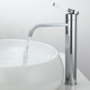 Wasserhahn Bad wasserfall Badarmatur hoch Waschbecken Armatur Einhebelmischer Mischbatterie Bad Armatur Waschtischarmatur wasserfall