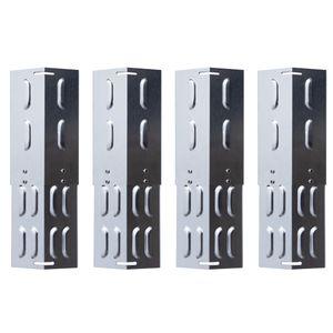 TAINO 4er-Set Universal-Brennerabdeckung Edelstahl größenverstellbar Flammenverteiler