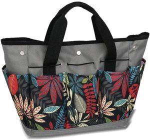 Garten Werkzeugtasche für Gartenwerkzeug- Mehrzweck Garten Werkzeug Tasche, Wasserdicht Oxford Garten Werkzeug Aufbewahrungstasche mit 9 Kleinen Taschen, Gartengerätetasche, Grau
