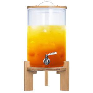 8L Luxus Getränkespender mit Zapfhahn aus Glas - XXL Wasserspender & Ständer