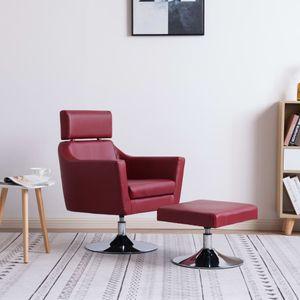 【Neu】Sessel Fernsehsessel Weinrot Kunstleder Gesamtgröße:65 x 59 x 86 cm BEST SELLER-Möbel-Stühle-Sessel im Landhaus-Stil