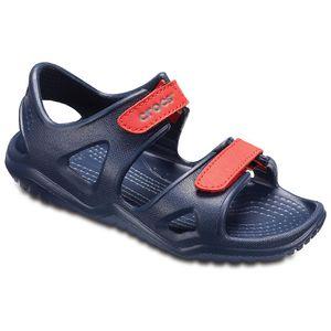 Crocs Kinder Sport Freizeit Sandale Kids' Swiftwater River Sandals blau, Größe:30-31