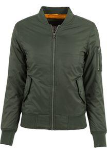 Urban Classics Ladies Basic Bomber Jacket TB807 Olive, Größe:M