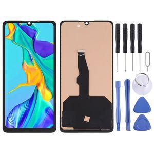 Für Huawei P30 Display Full TFT LCD Einheit Touch Ersatzteil Reparatur Schwarz Neu (OHNE FINGERPRINT)