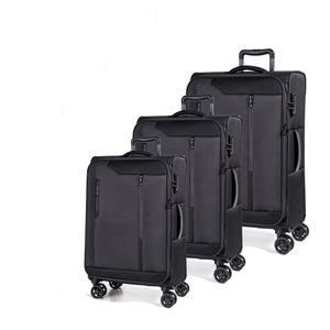 March Kofferset Stardust 3-tlg. Black Koffer mit 4 Rollen Kofferset