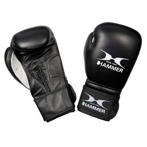 Hammer Boxhandschuhe  Fitness Büffeleder, schwarz 12 OZ