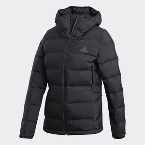 Adidas Helionic, Jacke, Windbreaker-Mantel, Weiblich, Polyester, Schwarz, Erwachsener