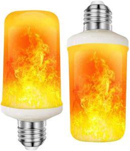2 Stück LED Flamme Flamme Glühbirne Flammen Lampe 5W E27 Base Flackernde Flamme Glühbirne dekorative Atmosphäre Lampen für Weihnachten, Zuhause, Hotel, Bar,Festdekorationen